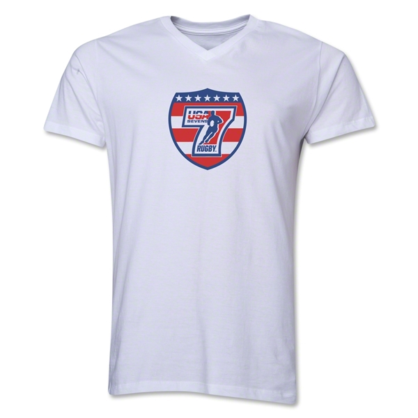 USA Sevens Rugby V-Neck T-Shirt (White)