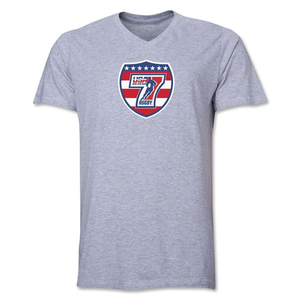 USA Sevens Rugby V-Neck T-Shirt (Gray)