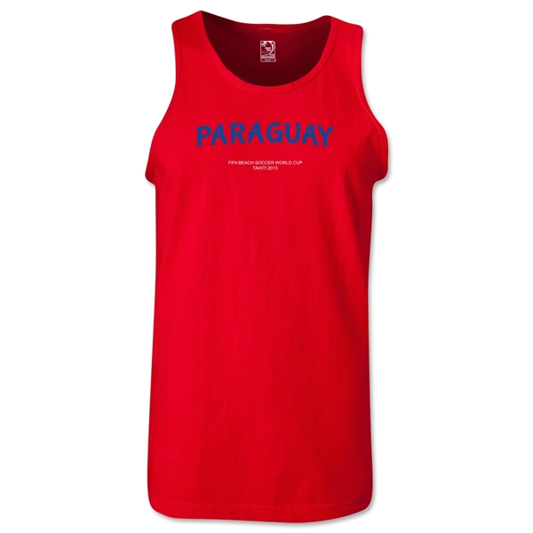 Paraguay FIFA Beach World Cup 2013 Tanktop (Red)
