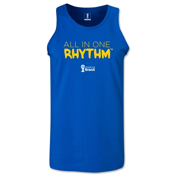 2014 FIFA World Cup Brazil(TM) All In One Rhythm Men's Tank Top (Royal)