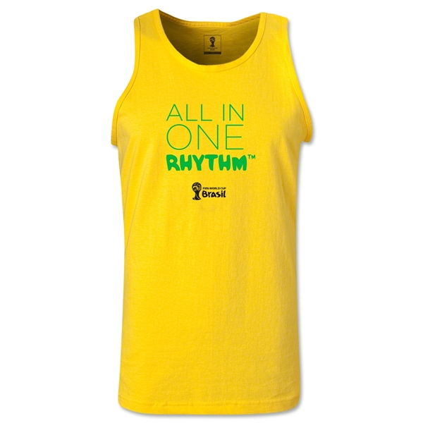 2014 FIFA World Cup Brazil(TM) All In One Rhythm Men's Tank Top (Yellow)
