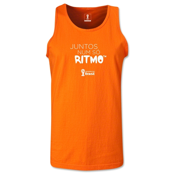 2014 FIFA World Cup Brazil(TM) All In One Rhythm Portuguese Men's Tank Top (Orange)