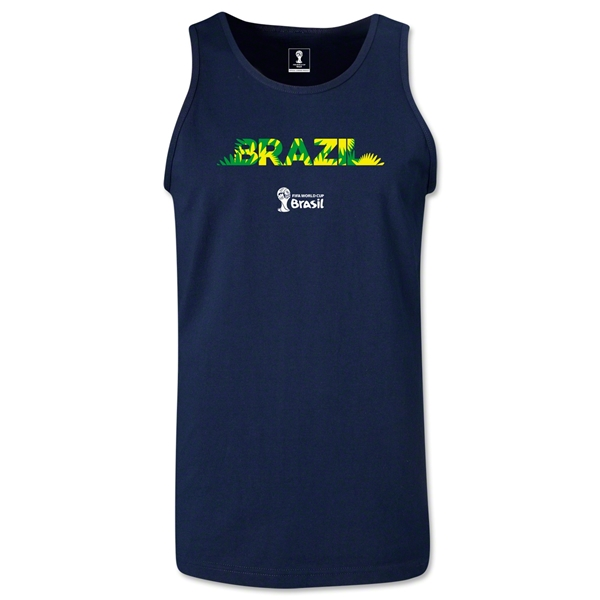 Brazil 2014 FIFA World Cup Brazil(TM) Men's Palm Tank Top (Navy)