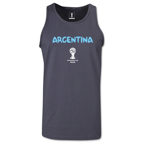Argentina 2014 FIFA World Cup Brazil(TM) Men's Core Tank Top (Dark Grey)
