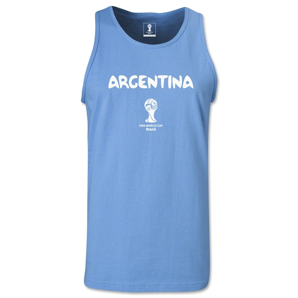 Argentina 2014 FIFA World Cup Brazil(TM) Men's Core Tank Top (Sky)