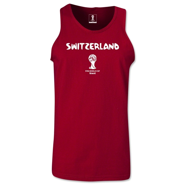 Switzerland 2014 FIFA World Cup Brazil(TM) Men's Core Tank Top (Cardinal)