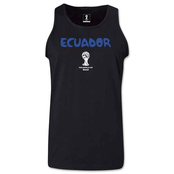 Ecuador 2014 FIFA World Cup Brazil(TM) Men's Core Tank Top (Black)