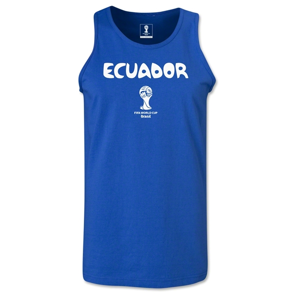 Ecuador 2014 FIFA World Cup Brazil(TM) Men's Core Tank Top (Royal)