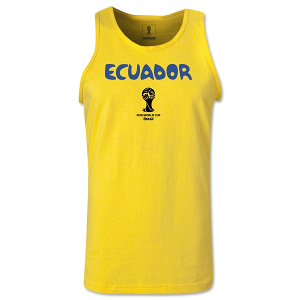 Ecuador 2014 FIFA World Cup Brazil(TM) Men's Core Tank Top (Yellow)