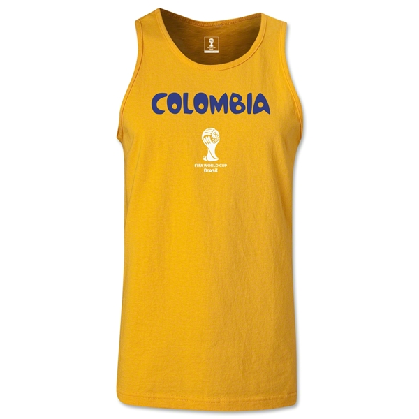 Colombia 2014 FIFA World Cup Brazil(TM) Men's Core Tank Top (Gold)