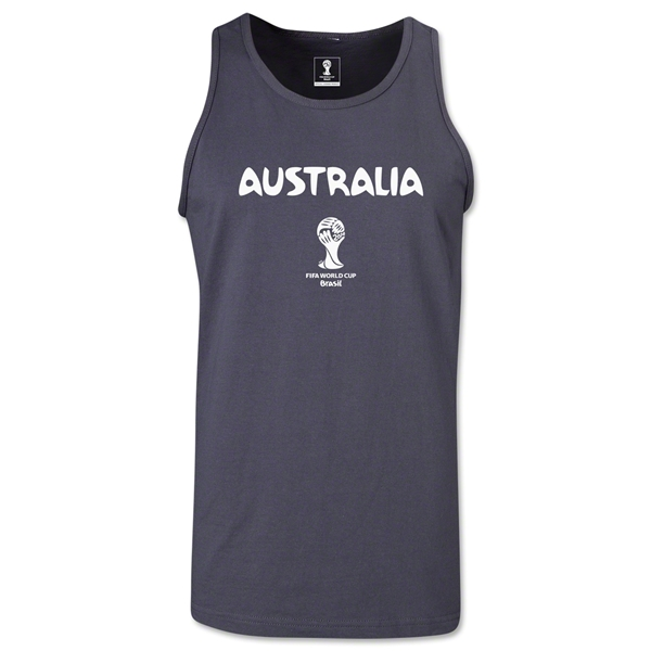 Australia 2014 FIFA World Cup Brazil(TM) Men's Core Tank Top (Dark Grey)