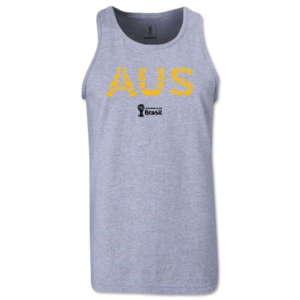 Australia 2014 FIFA World Cup Brazil(TM) Men's Elements Tank Top (Grey)