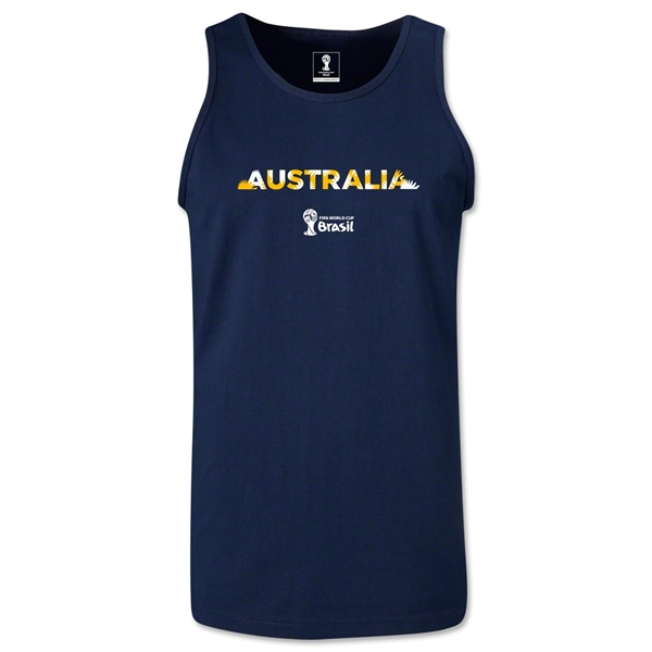 Australia 2014 FIFA World Cup Brazil(TM) Men's Palm Tank Top (Navy)