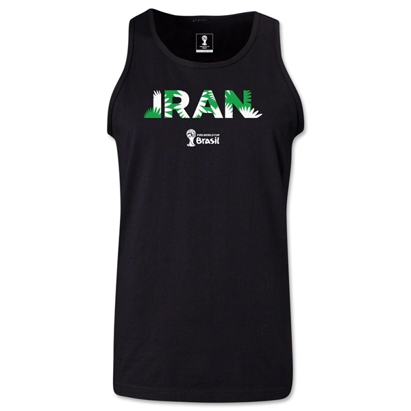 Iran 2014 FIFA World Cup Brazil(TM) Men's Palm Tank Top (Black)