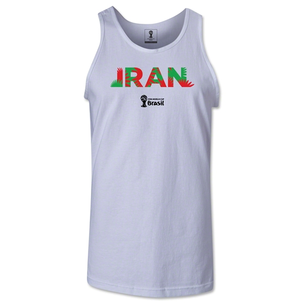 Iran 2014 FIFA World Cup Brazil(TM) Men's Palm Tank Top (White)