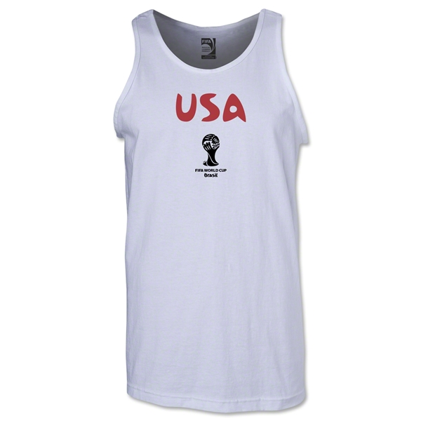 USA 2014 FIFA World Cup Brazil(TM) Men's Core Tank Top (White)