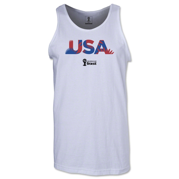 USA 2014 FIFA World Cup Brazil(TM) Men's Palm Tank Top (White)