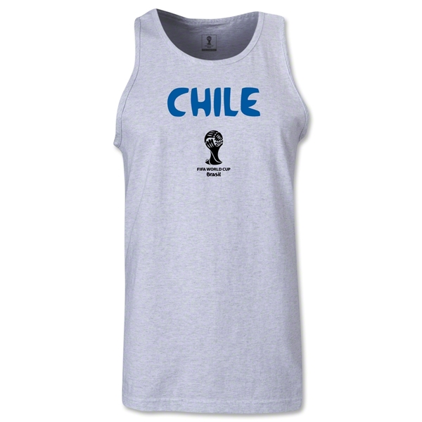 Chile 2014 FIFA World Cup Brazil(TM) Men's Core Tank Top (Ash)