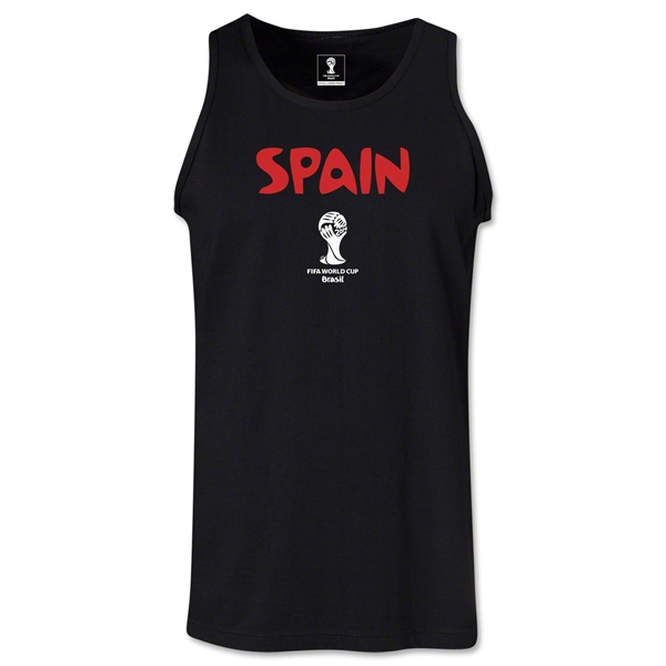Spain 2014 FIFA World Cup Brazil(TM) Men's Core Tank Top (Black)