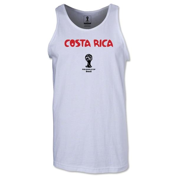 Costa Rica 2014 FIFA World Cup Brazil(TM) Men's Core Tank Top (White)
