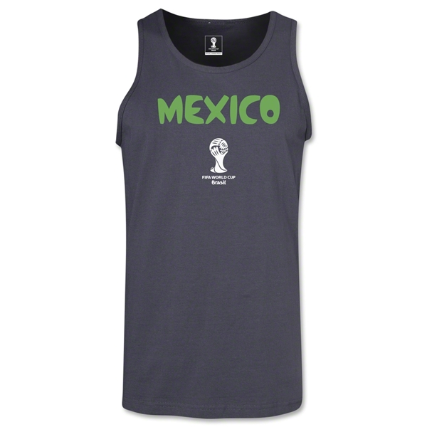 Mexico 2014 FIFA World Cup Brazil(TM) Men's Core Tank Top (Dark Gray)