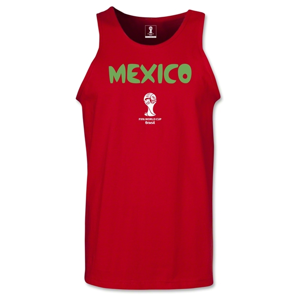 Mexico 2014 FIFA World Cup Brazil(TM) Men's Core Tank Top (Red)