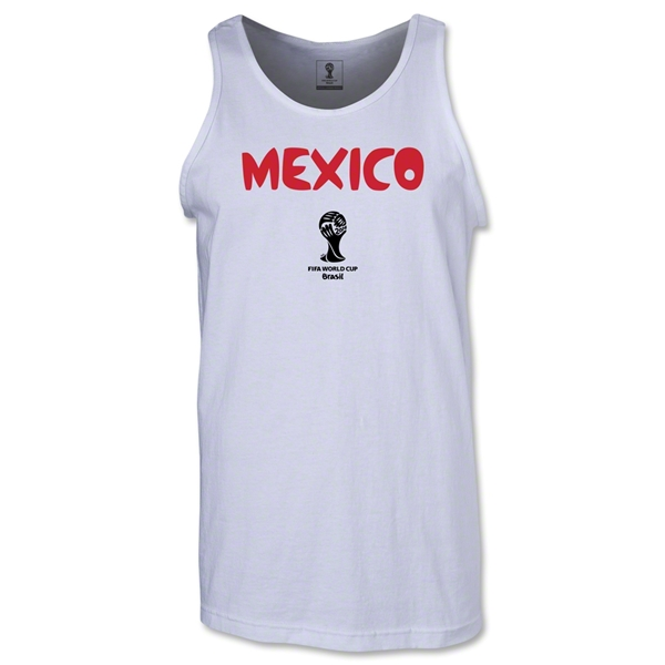 Mexico 2014 FIFA World Cup Brazil(TM) Men's Core Tank Top (White)