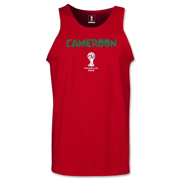 Cameroon 2014 FIFA World Cup Brazil(TM) Men's Core Tank Top (Red)