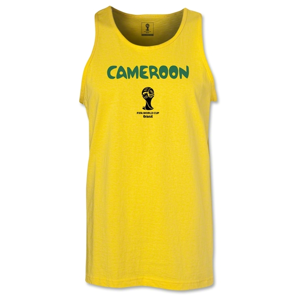 Cameroon 2014 FIFA World Cup Brazil(TM) Men's Core Tank Top (Yellow)