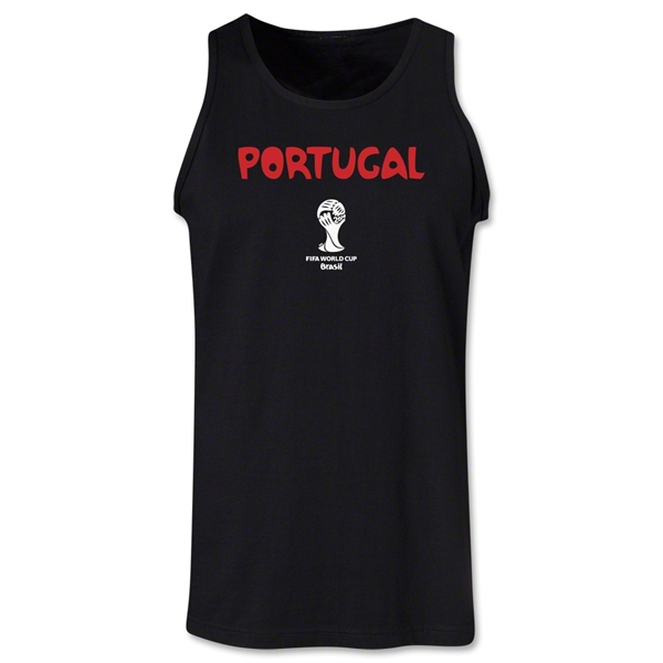 Portugal 2014 FIFA World Cup Brazil(TM) Men's Core Tank Top (Black)
