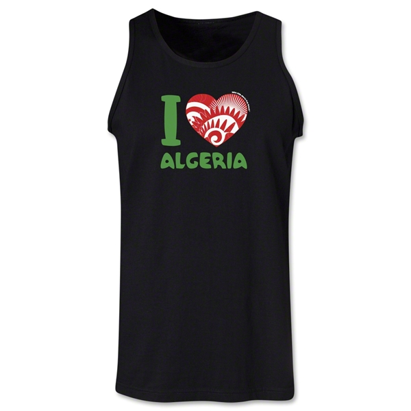 I Heart Algeria 2014 FIFA World Cup Brazil(TM) Men's Tank Top (Black)