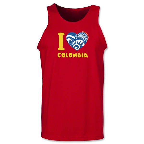 I Heart Colombia 2014 FIFA World Cup Brazil(TM) Men's Tank Top (Red)