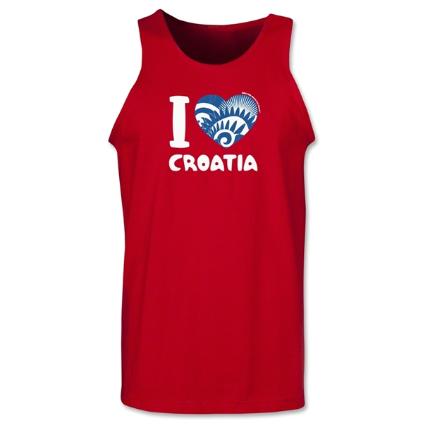 I Heart Croatia 2014 FIFA World Cup Brazil(TM) Men's Tank Top (Red)