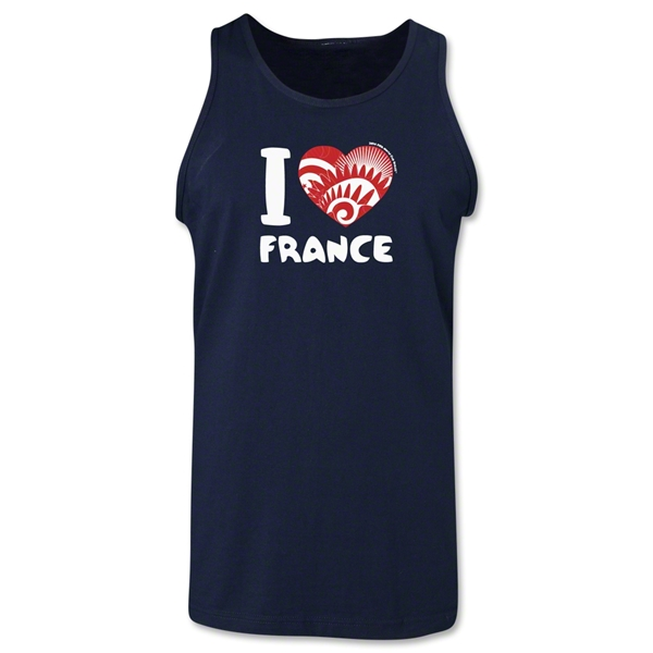 I Heart France 2014 FIFA World Cup Brazil(TM) Men's Tank Top (Navy)