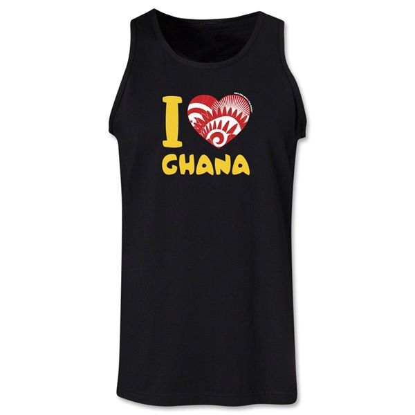 I Heart Ghana 2014 FIFA World Cup Brazil(TM) Men's Tank Top (Black)