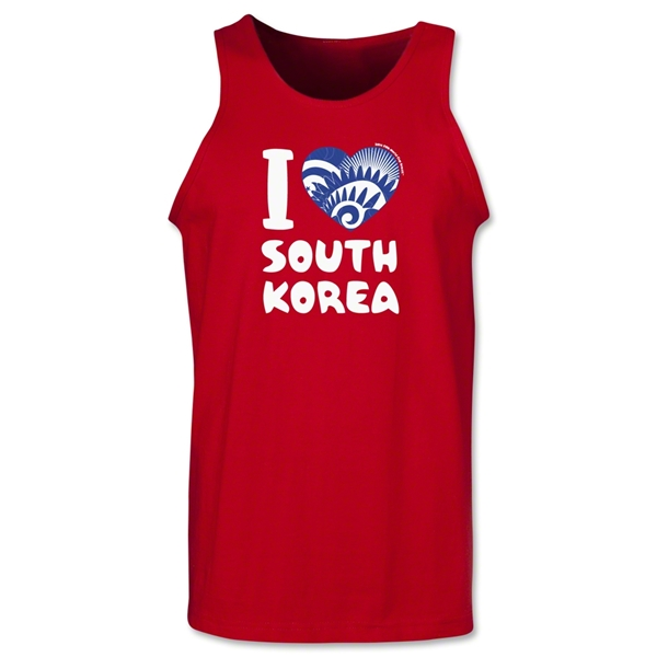 I Heart South Korea 2014 FIFA World Cup Brazil(TM) Men's Tank Top (Red)