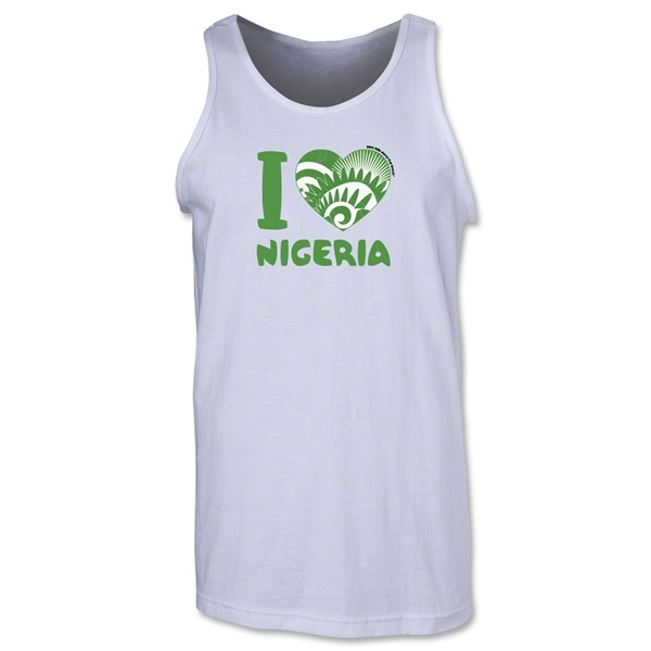 I Heart Nigeria 2014 FIFA World Cup Brazil(TM) Men's Tank Top (White)