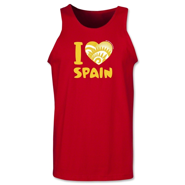 I Heart Spain 2014 FIFA World Cup Brazil(TM) Men's Tank Top (Red)