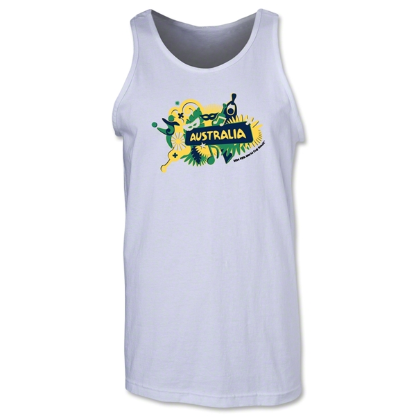 Australia 2014 FIFA World Cup Brazil(TM) Men's Celebration Tank Top (White)
