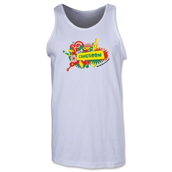 Cameroon 2014 FIFA World Cup Brazil(TM) Men's Celebration Tank Top (White)