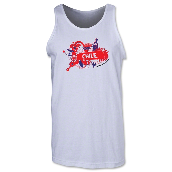 Chile 2014 FIFA World Cup Brazil(TM) Men's Celebration Tank Top (White)