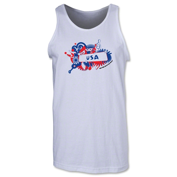 USA 2014 FIFA World Cup Brazil(TM) Men's Celebration Tank Top (White)