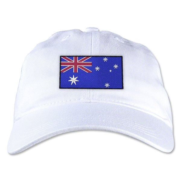 Australia Unstructured Adjustable Cap (White)