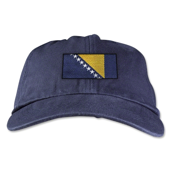 Bosnia-Herzegovina Unstructured Adjustable Cap (Navy)