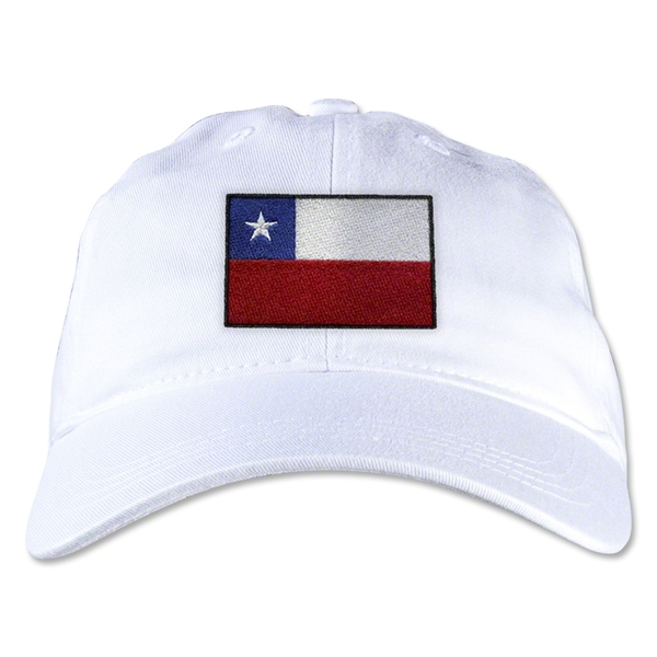 Chile Unstructured Adjustable Cap (White)