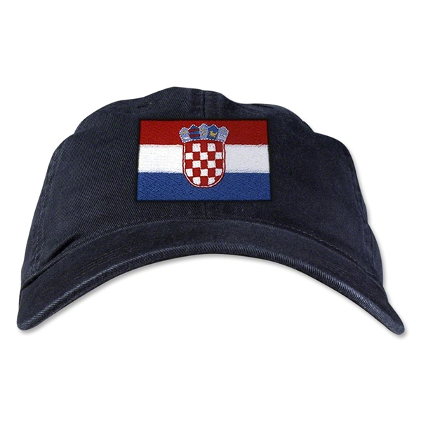 Croatia Unstructured Adjustable Cap (Black)