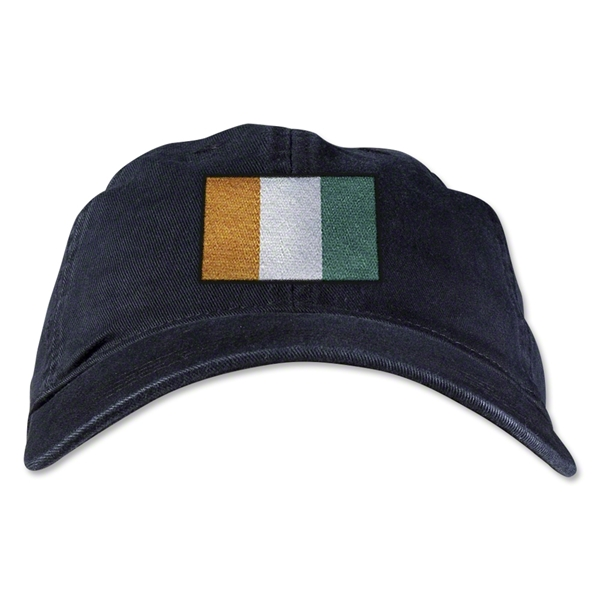 Cote d'Ivoire Unstructured Adjustable Cap (Black)