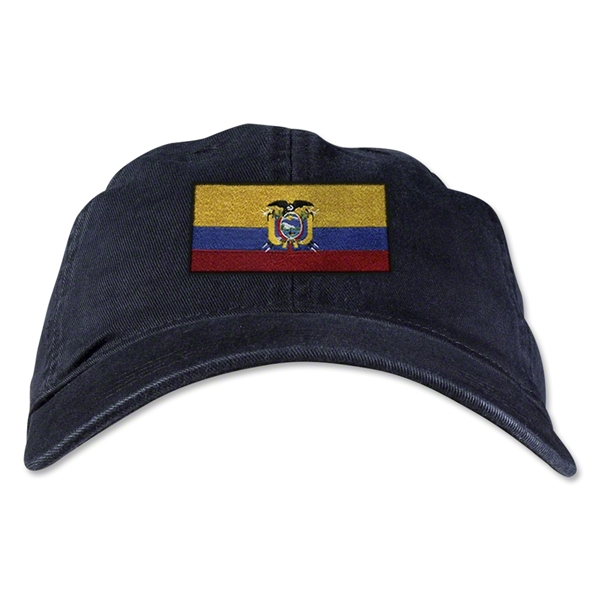 Ecuador Unstructured Adjustable Cap (Black)