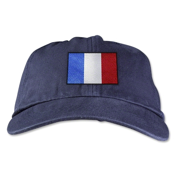 France Unstructured Adjustable Cap (Navy)