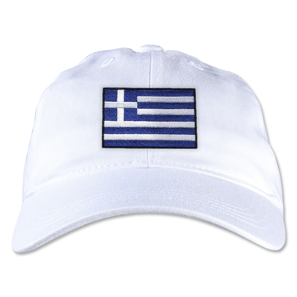 Greece Unstructured Adjustable Cap (White)